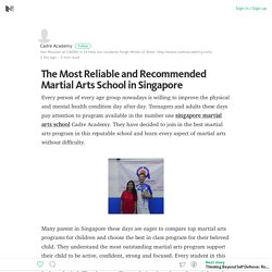 The Most Reliable and Recommended Martial Arts School in Singapore – Medium