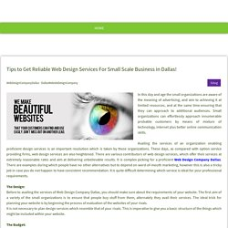 Tips to Get Reliable Web Design Services For Small Scale Business in Dallas! - ironegg