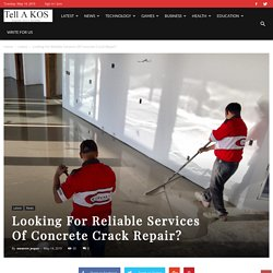 Looking For Reliable Services Of Concrete Crack Repair?