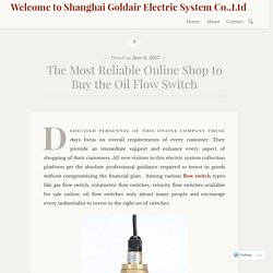 The Most Reliable Online Shop to Buy the Oil Flow Switch – Welcome to Shanghai Goldair Electric System Co.,Ltd