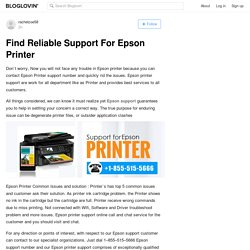Find Reliable Support For Epson Printer