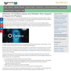 800-760-5113-Reliable Tech Support for Windows 10 Cortana Issues
