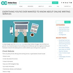 Everything You've Ever Wanted to Know About Online Writing Services