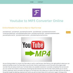 Online YouTube to Mp4 Converter