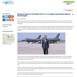 Reliance Defence and Rafael...