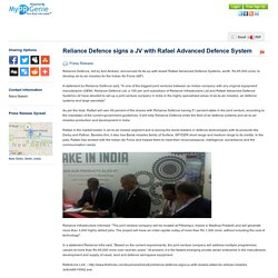 Reliance Defence signs a JV...