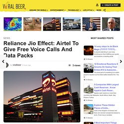 Reliance Jio Effect: Airtel To Give Free Voice Calls And Data Packs