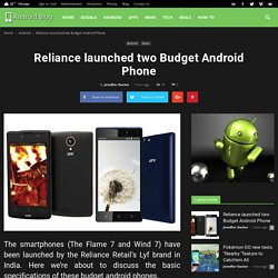 Reliance launched two Budget Android Phone