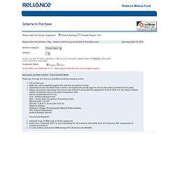 Reliance Product Of Month