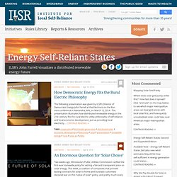 Energy Self Reliant States