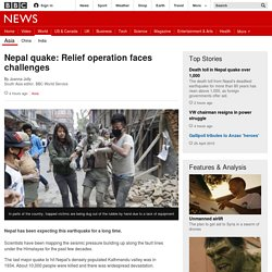 Nepal quake: Relief operation faces challenges - BBC News