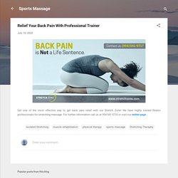Relief Your Back Pain With Professional Trainer
