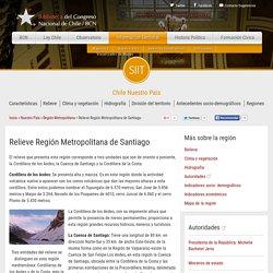 Relieve Región Metropolitana de Santiago —
