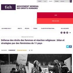 Défense des droits des femmes et réaction religieuse : bilan et stratégies par des féministes de 11 pays