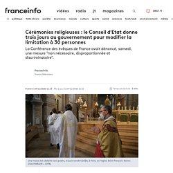 Cérémonies religieuses : le Conseil d'Etat donne trois jours au gouvernement pour modifier la limitation à 30 personnes
