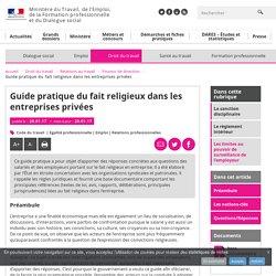 Guide pratique du fait religieux dans les entreprises privées - Pouvoir de direction
