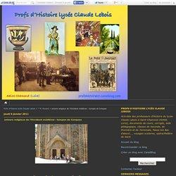 univers religieux de l'Occident médiéval : tympan de Conques - Profs d'Histoire lycée Claude Lebois