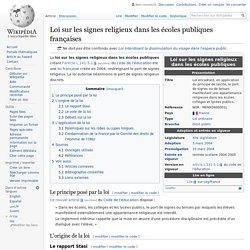 Loi sur les signes religieux dans les écoles publiques françaises