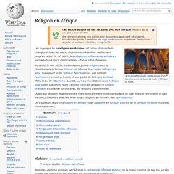 Religion en Afrique