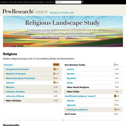 Religion in American Culture -- Pew Forum on Religion & Public Life