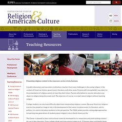 Center for the Study of Religion and American Culture