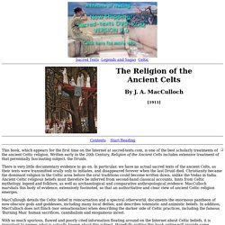 The Religion of the Ancient Celts Index