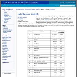 La Religion en Australie - Secrets de Comment - Les Articles Libres De Droits