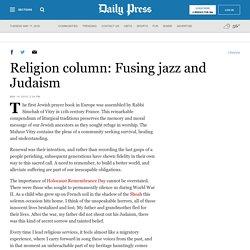 Religion column: Fusing jazz and Judaism