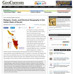 Religion, Caste, and Electoral Geography in the Indian State of Kerala