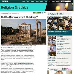 BBC Religion & Ethics - Did the Romans invent Christmas?