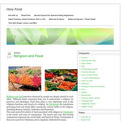 Holy Food - Religion and Food