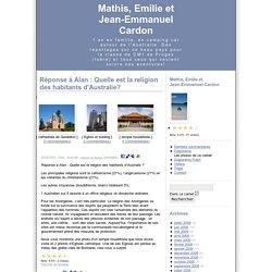 Réponse à Alan : Quelle est la religion des habitants d'Australie? - Mathis, Emilie et Jean-Emmanuel - Kikooboo.com - Message