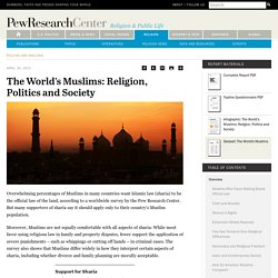 The World's Muslims: Religion, Politics and Society