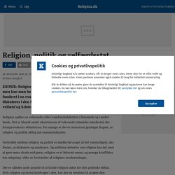 politik og velfærdsstat - Religion.dk