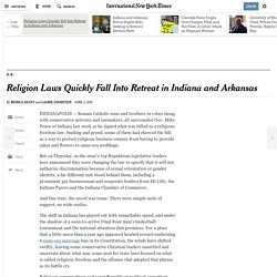 Religion Laws Quickly Fall Into Retreat in Indiana and Arkansas
