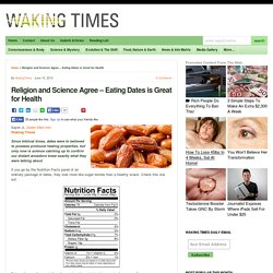 Religion and Science Agree - Eating Dates is Great for Health