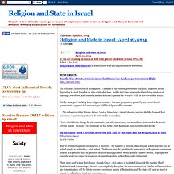 Religion and State in Israel