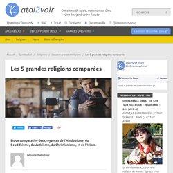 Les 5 grandes religions comparées