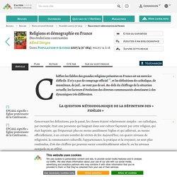 Religions et démographie en France