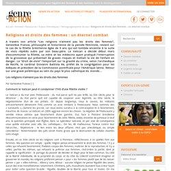 Religions et droits des femmes : un éternel combat