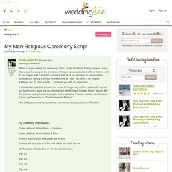 My Non-Religious Ceremony Script