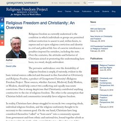 Religious Freedom and Christianity: An Overview