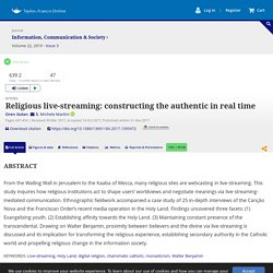 Full article: Religious live-streaming: constructing the authentic in real time