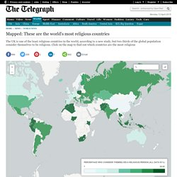 Mapped: These are the world's most religious countries