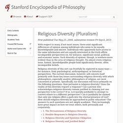 Religious Diversity (Pluralism)
