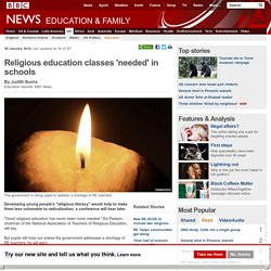 Religious education classes 'needed' in schools