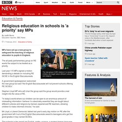 Religious education in schools is 'a priority' say MPs