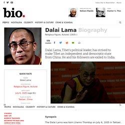 Dalai Lama - Religious Figure, Activist