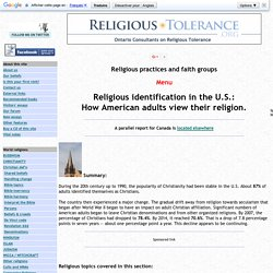 Religious identification in the U.S.
