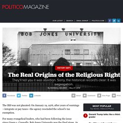 The Real Origins of the Religious Right - Randall Balmer